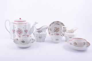 Newhall porcelain silver shaped teapot
