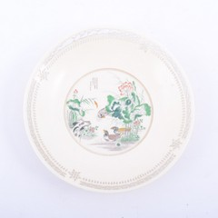 Chinese carved ivory saucer dish