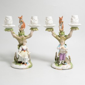 A collection of continental and Staffordshire ceramics