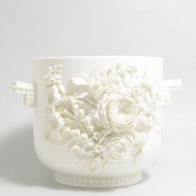 Staffordshire white bodied two-handled jardiniere