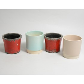 Large quantity of ceramic and glass plant pots