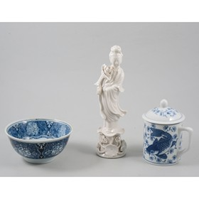 A collection of blue and white porcelain