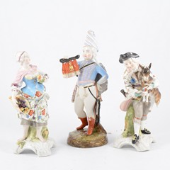 Continental porcelain model of a Boy Soldier