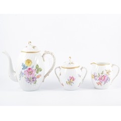 Nymphenburg wrythen fluted coffee set
